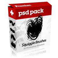Premium Psdpack – Squiggle Brushes