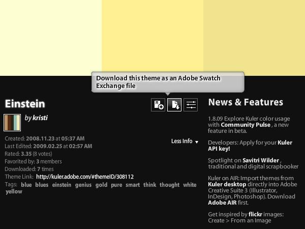 使用Adobe Kuler提高photoshop配色工作效率