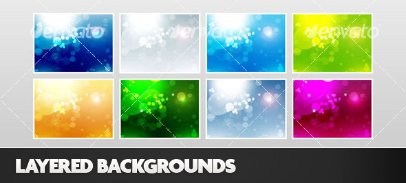 Layered Photoshop Backgrounds