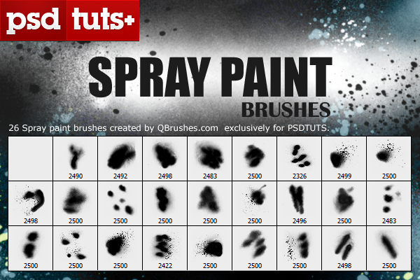 spray paint brushes grungy leaf set and the acrylic set qbrushes. Black Bedroom Furniture Sets. Home Design Ideas