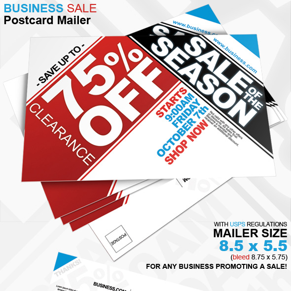 Business Sale Postcard Mailer